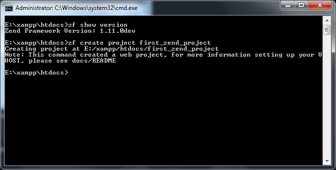 Zend Command Image Screen Shot